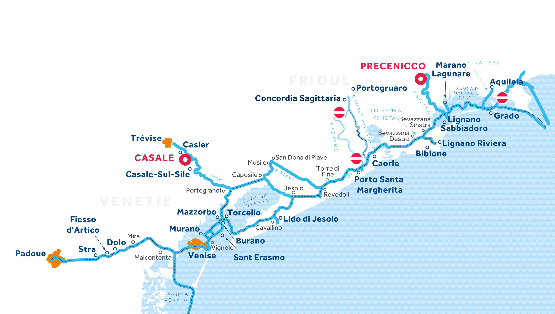Carte: Venise et Frioul