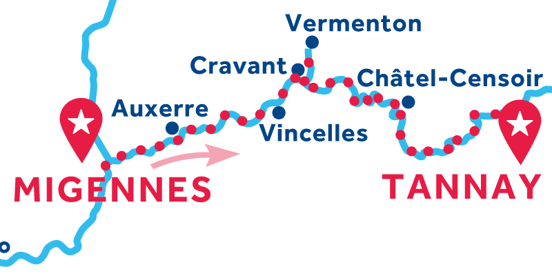 Migennes to Tannay via Vermenton ONEWAY