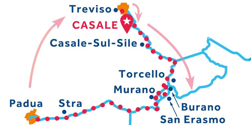 Casale ALLER-RETOUR via Venise et Stra (Padoue)