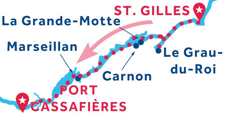 Saint-Gilles to Port Cassafières
