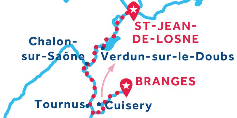 Branges to Saint-Jean-de-Losne