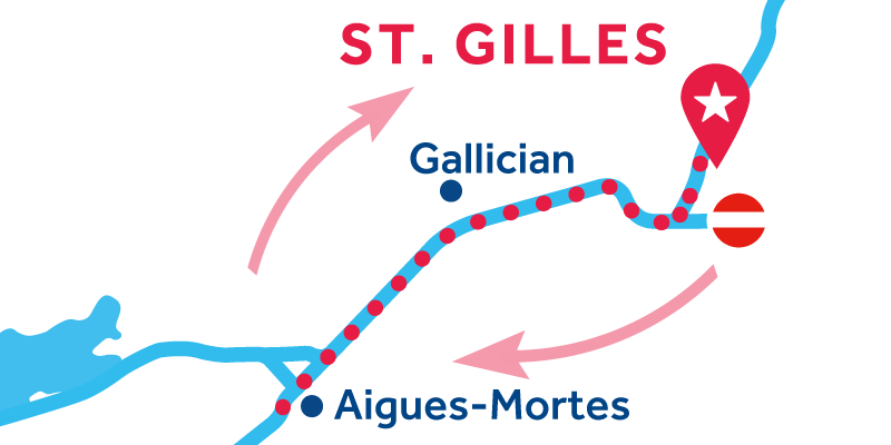 Saint-Gilles RETURN via Aigues-Mortes & Palavas