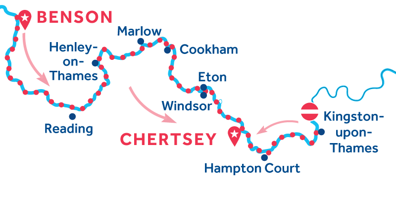 Benson à Chertsey via Kingston-upon-Thames