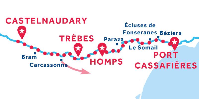 Castelnaudary à Port Cassafières ALLER SIMPLE