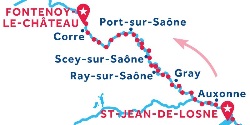 Saint-Jean-de-Losne to Fontenoy-le-Château