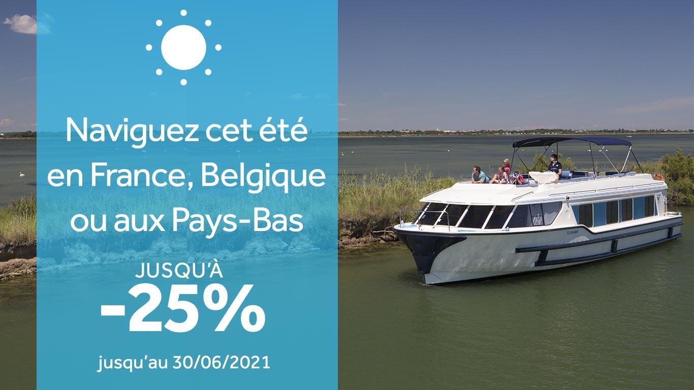 Votre croisière cet été en France, Belgique ou aux Pays-Bas