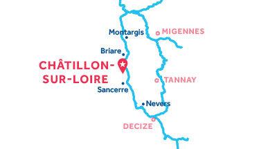 Kaart van de basis in Châtillon-sur-Loire