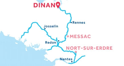 Kaart van de basis in Dinan