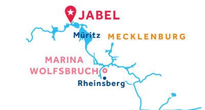 Kaart van de basis in Jabel