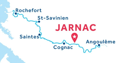 Carte de situation de la base de Jarnac