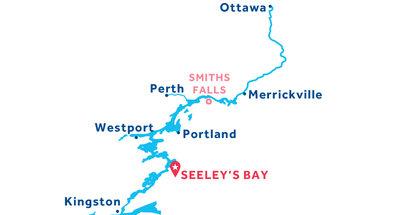 Kaart van de basis in Seeley's Bay