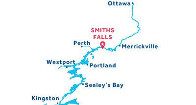 Kaart van de basis in Smith Falls
