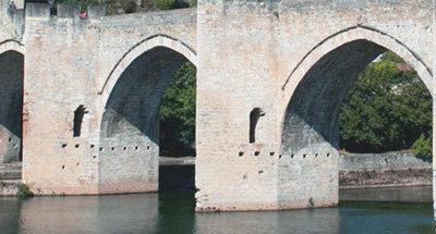 Bogen van de Pont Valentré over de Lot