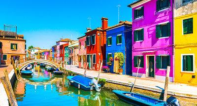 Kleurrijke straten van Burano