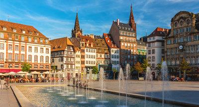 Straatsburg stadsplein