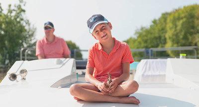 Enfant à bord d'un Horizon