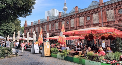 Repas en terrasse à Berlin