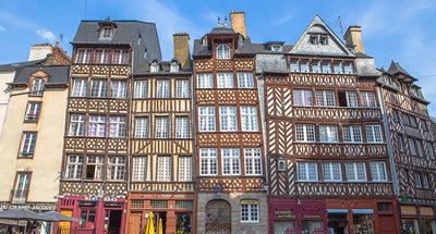 Middeleeuwse vakwerkhuizen in Rennes