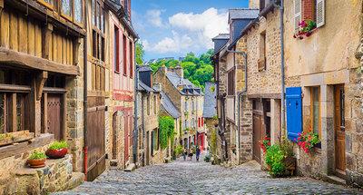 Les rues pavées de Dinan