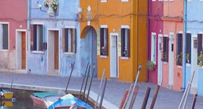 Colourful house in Venice
