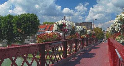 Pont en fer forgé, Bourgogne