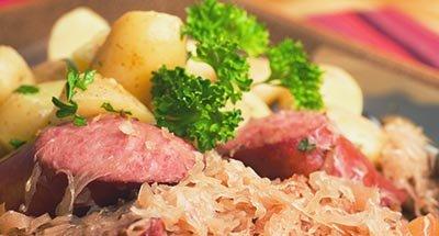 Saucisses et choucroute