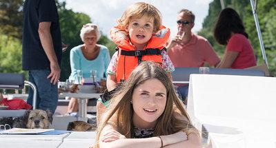 Familie plezier op de Rideau