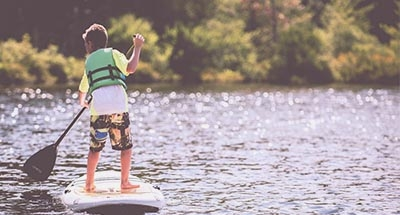 Child on paddleboard