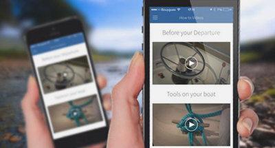 Instructievideos in de Le Boat App