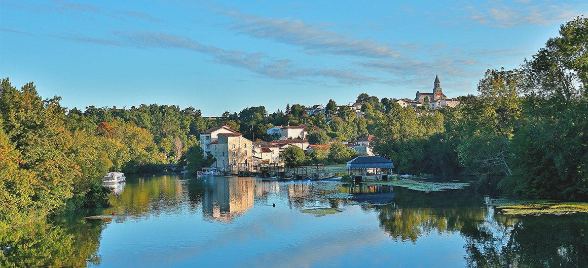 Rivier scene in de Charente