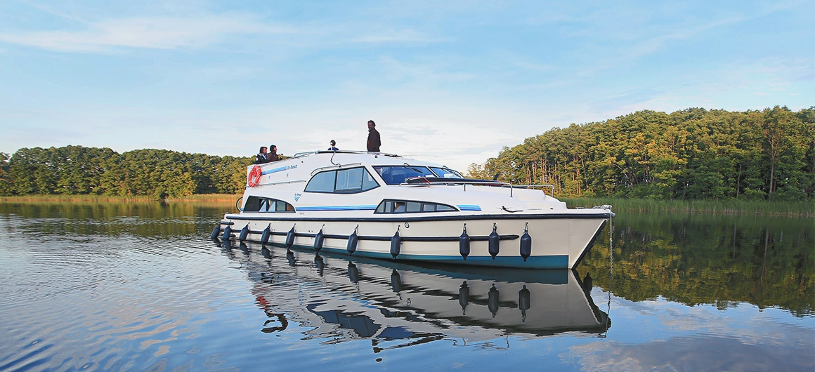 Royal Mystique op het Müritz-meer, Duitsland