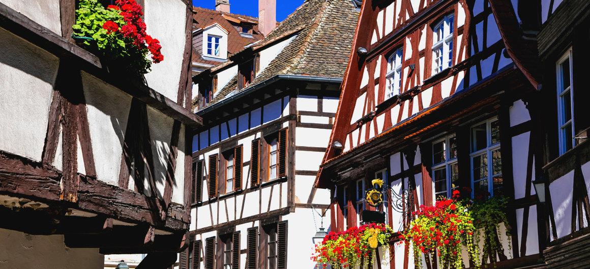 Maisons à colombages en Alsace