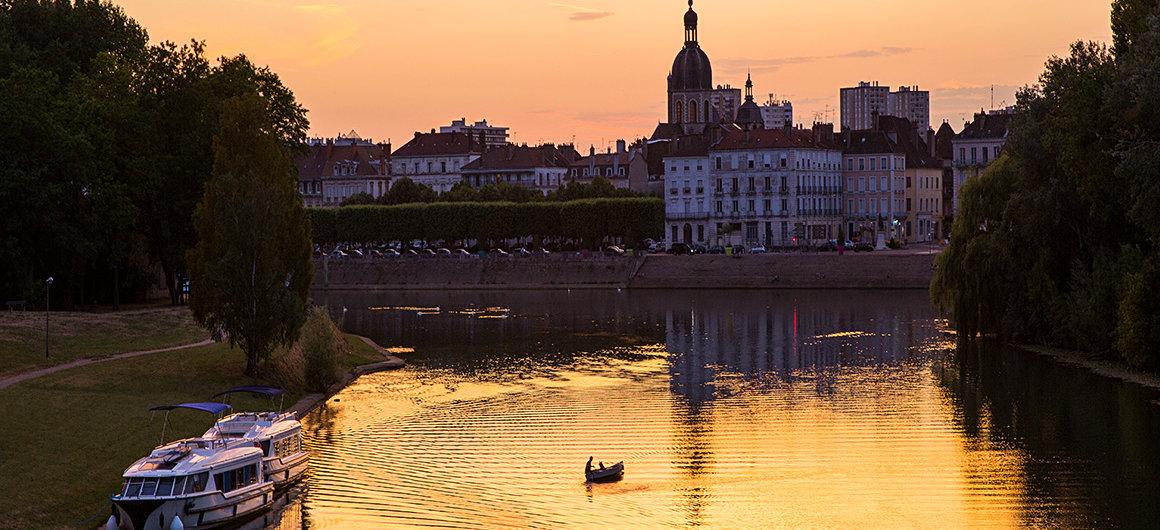 Coucher de soleil à Chalon-sur-Saône