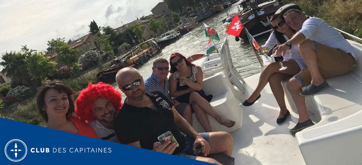 Capitaine Mike sur le Canal du Midi