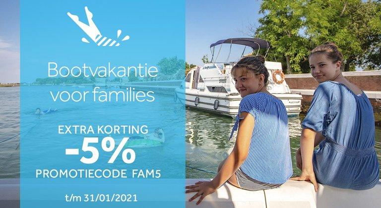 Vaar met uw familie en profiteer van Familiekorting