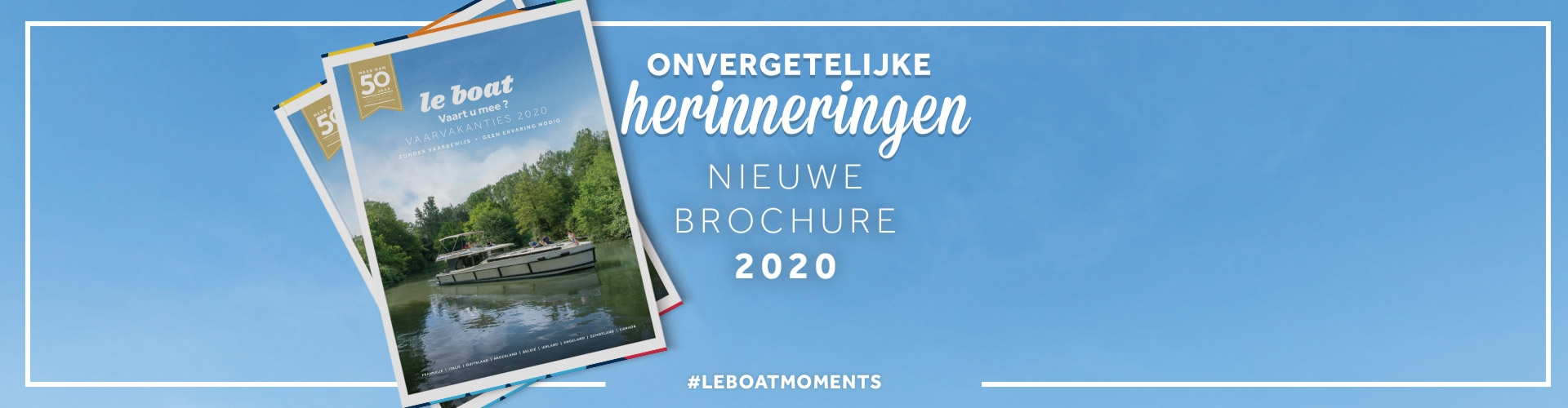 Uw gratis Le Boat brochure 2020