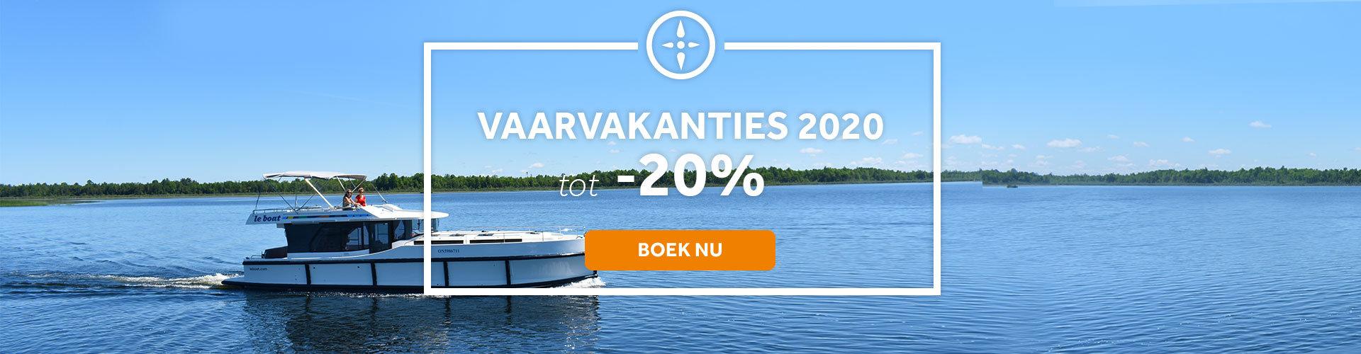 Tot -20% op uw vaarvakantie in 2020