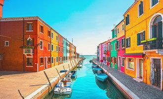 Maisons colorées de Burano
