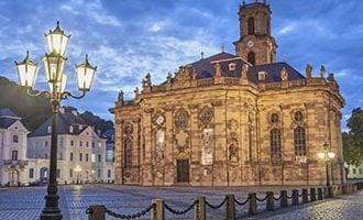 Eglise baroque protestante Ludwigskirche à Saarbrücken