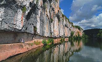 Het trekpad bij Bouziès